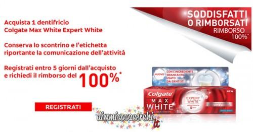 Colgate Max White Expert White, rimborso 100%