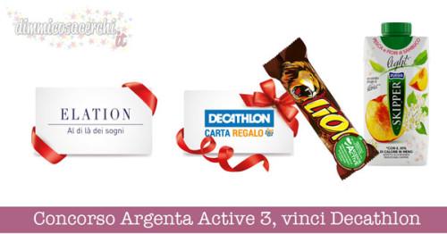 Concorso Argenta Active 3, vinci buoni Decathlon