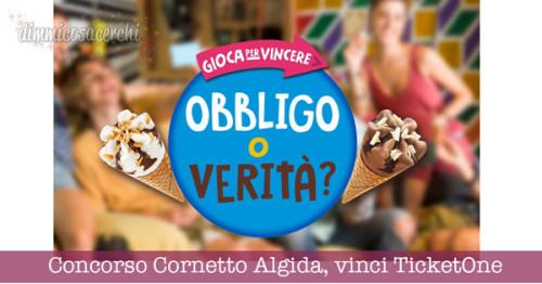 Concorso Cornetto Algida, vinci 300 Gift Voucher TicketOne
