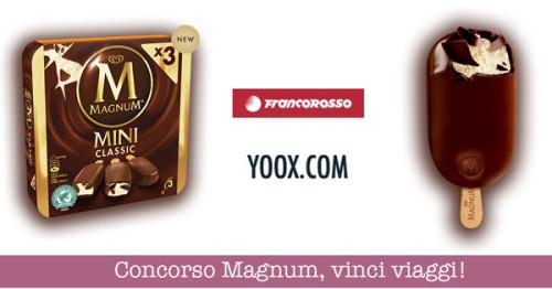 Concorso gelato Magnum, vinci 50 buoni spesa YOOX e viaggi