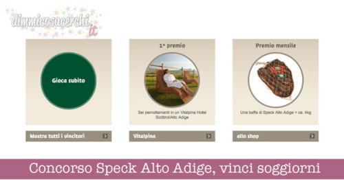Concorso Speck Alto Adige, vinci soggiorni e forniture