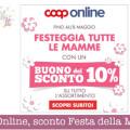 Coop Online, sconto Festa della Mamma