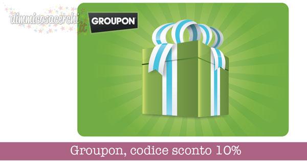 Groupon, codice sconto