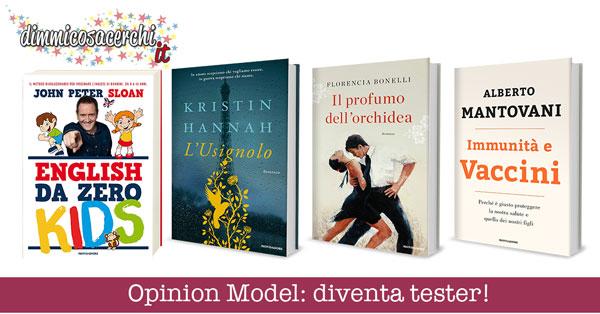 Opinion Model, diventa tester libri vari