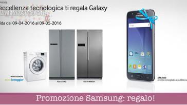 Elettrodomestici Samsung di regalano uno Smartphone Galaxy J5