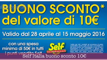 Self Italia buono sconto