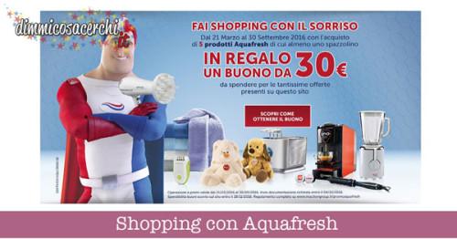 Shopping con Aquafresh