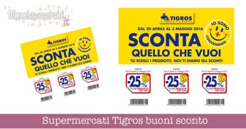 Supermercati Tigros buoni sconto