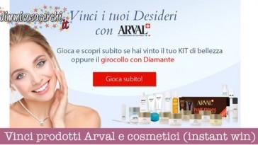 Vinci prodotti Arval e cosmetici (instant win)