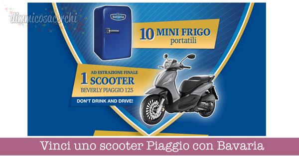 Vinci uno scooter Piaggio con Bavaria