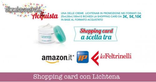 Lichtena ti regala una shopping card