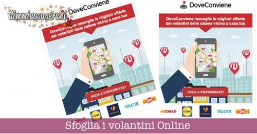 Volantini online con DoveConviene