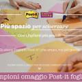 Campioni omaggio Post-it foglietti