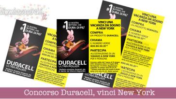 Concorso Duracell, vinci una vacanza a New York
