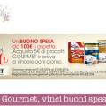 Concorso Gourmet, vinci buoni spesa da 100€