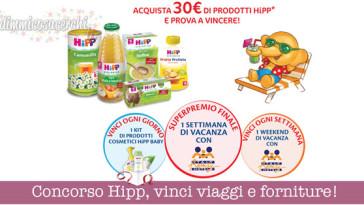 Concorso Hipp, vinci viaggi e forniture!