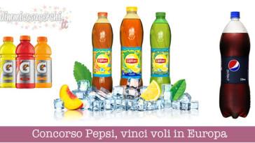 Concorso Pepsi, vinci voli in Europa