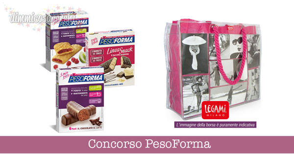 Concorso PesoForma, vinci Photo Bag