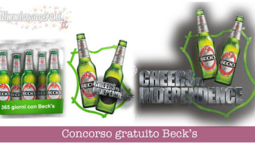 Concorso Beck's Cheers Moment, vinci forniture