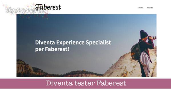 Diventa tester Faberest