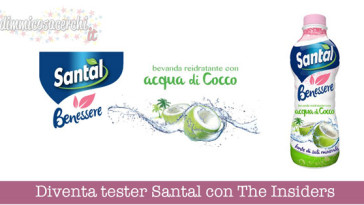 Diventa tester Santal con The Insiders