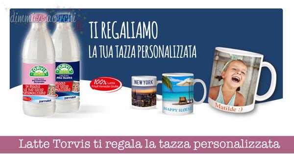 Latte Torvis ti regala la tazza personalizzata