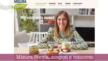 Misura Stevia, coupon e concorso