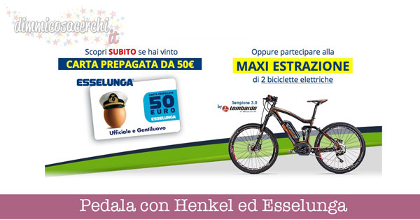 Pedala con Henkel ed Esselunga
