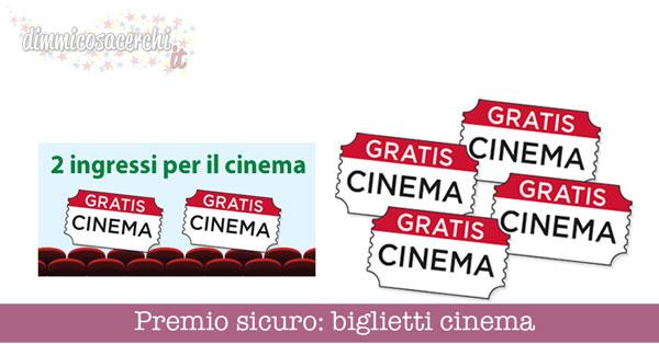 Premio sicuro: biglietti cinema