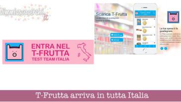 T-Frutta arriva in tutta Italia