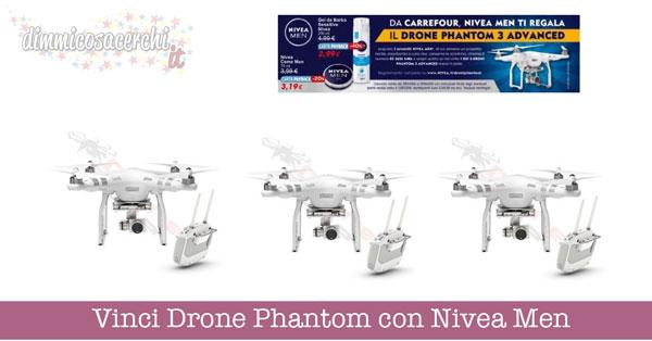 Vinci Drone Phantom con Nivea Men e Carrefour