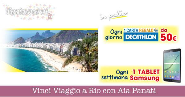 Vinci Viaggio a Rio con Aia Panati