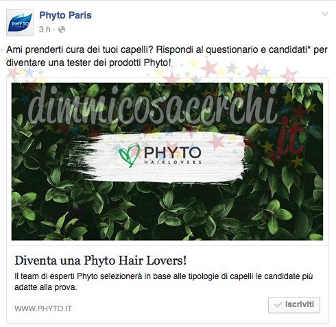 tester prodotti Phyto