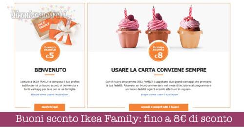 Buoni sconto Ikea Family: fino a 8€ di sconto