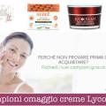 Campioni omaggio creme Lycopene