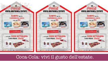 Coca-Cola: vivi il gusto dell'estate. Premi certi e concorso!