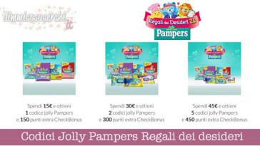 Codici Jolly Pampers Regali dei desideri