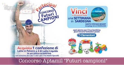 "Concorso Aptamil ""Futuri campioni"", vinci Clementoni e Sardegna"