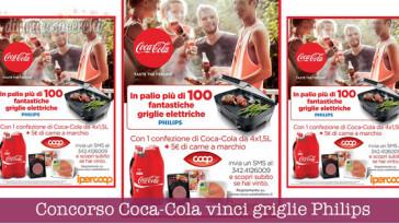 Concorso Coca-Cola vinci griglie elettriche Philips