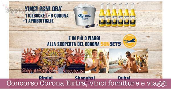 Concorso Corona Extra, vinci forniture e viaggi