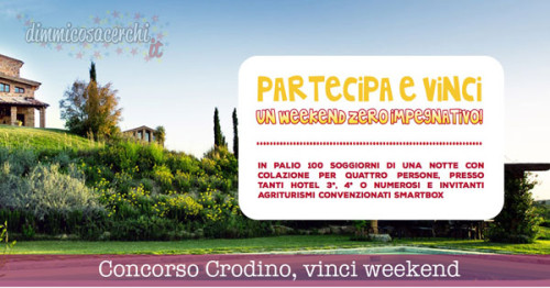 Concorso Crodino, vinci weekend