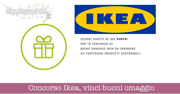 Concorso Ikea, vinci buoni omaggio
