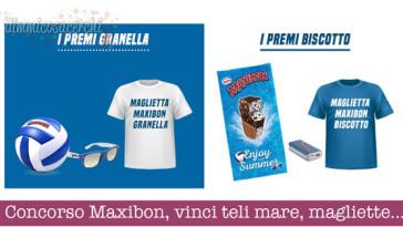 Concorso Maxibon, vinci teli mare, magliette e altri premi