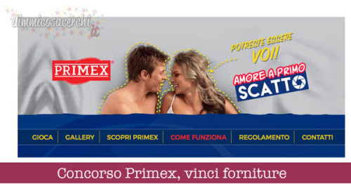 Concorso Primex, vinci forniture e servizio fotografico