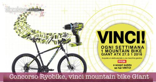 Concorso Ryobike, vinci mountain bike Giant ATX