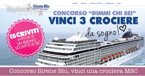 Concorso Sirene Blu, vinci una crociera MSC