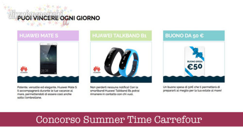 Concorso Summer Time Carrefour