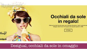 Desigual, occhiali da sole in omaggio con ogni ordine