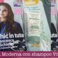 Donna Moderna con shampoo VitalCare