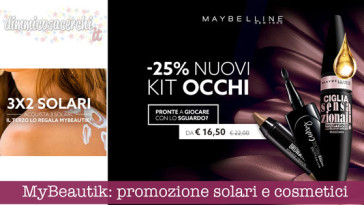 MyBeautik: promozione solari e cosmetici